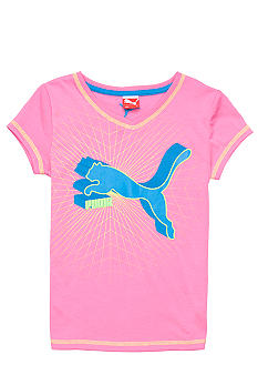 Puma Classic Cat V-Neck Tee Girls 4-6x