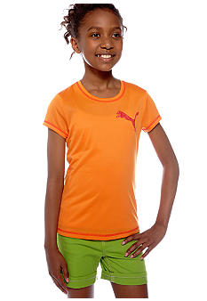 Puma Active Logo Tee Girls 7-16