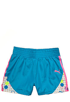 Puma Color Block Print Microfiber Short Girls 4-6x