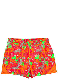 Puma Color Block Print Microfiber Short Girls 7-16