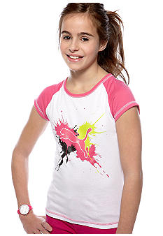Puma Splatter Cat Raglan Tee Girls 7-16