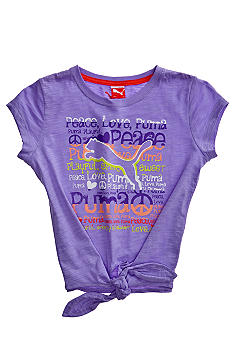Puma Peace Love Puma Tee Girls 4-6X