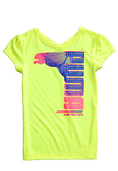 Puma Criss Cross Back Puma Tee Girls 4-6X