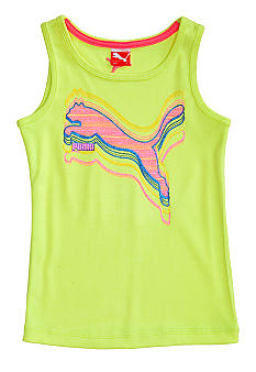Puma Stripe Cat Tee Girls 4-6X
