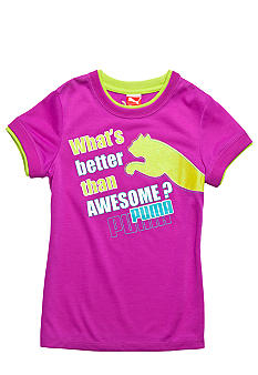 Puma Awesome Puma Ringer Tee Girls 4-6X