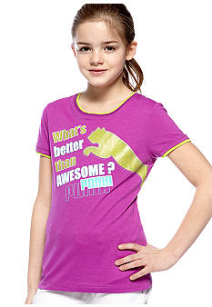Puma Awesome Puma Ringer Tee Girls 7-16