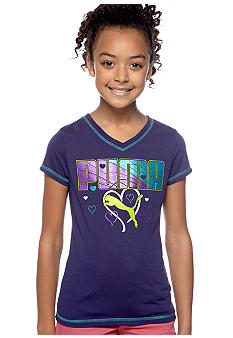Puma Puma Hearts V-Neck Tee Girls 7-16