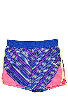 Puma Colorblock Microfiber Short Girls 7-16