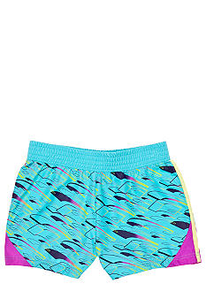 Puma Colorblock Print Microfiber Short Girls 4-6X