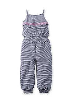 Carter's Ruffle Striped Jumpsuit Girls 4-6x