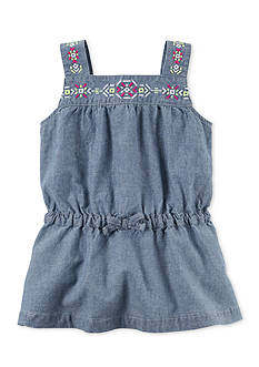 Carter's Chambray Embroidered Tunic Girls 4-6x