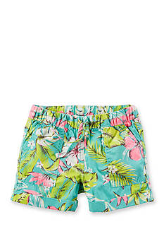 Carter's Tropical Floral Woven Shorts Girls 4-6x