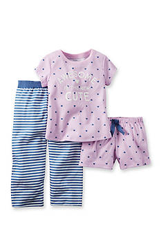 Carter's 3-Piece 'Awesome is the New Cute' Pajama Set Girls 4-6x