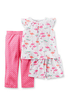 Carter's 3-Piece Flamingo Pajama Set Girls 4-6x
