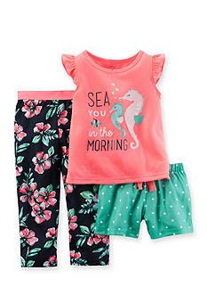 Carter's 3-Piece Seahorse Pajama Set Girls 4-6x