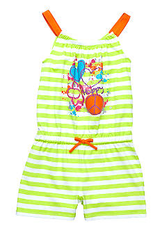 Kids Headquarters Stripe Romper Girls 4-6X