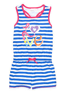 Kids Headquarters Stripe Love Romper Girls 4-6X