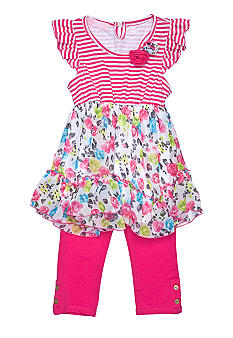 Kids Headquarters Stripe Swiss Dot Set Girls 4-6X
