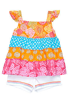Kids Headquarters Multi-Tiered 2-piece Short Set Girls 4-6X