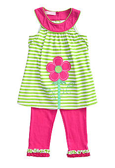 Kids Headquarters Stripe Flower Set Girls 4-6X