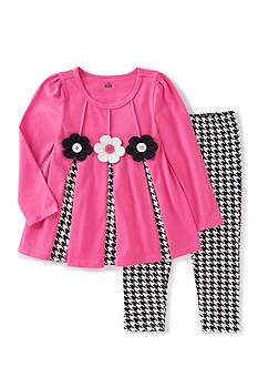 Kids Headquarters Pleated Houndstooth Set Girls 4-6X