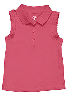 J Khaki Knit sleeveless Polo Girls 4-6x
