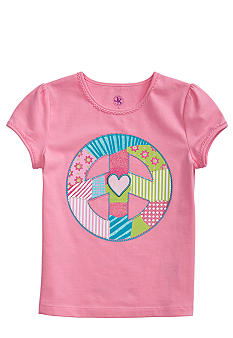 J Khaki Peace Tee Girls 4-6X