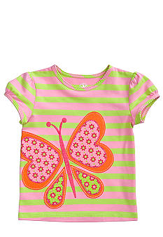 J Khaki Butterfly Tee Girls 4-6X