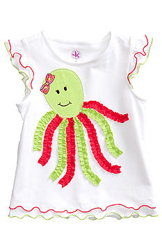 J Khaki Octopus Tee Girls 4-6x