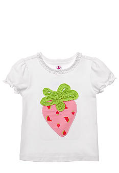 J Khaki Strawberry Tee Girls 4-6X