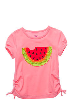 J Khaki Watermelon Tee Girls 4-6X
