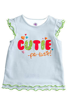 J Khaki Cutie Novelty Tee Girls 4-6x