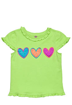 J Khaki Three Hearts Tee Girls 4-6X
