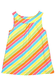 J Khaki Knit Stripe Babydoll Top Girls 4-6X