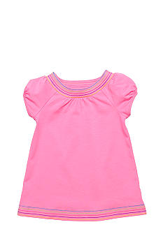 J Khaki Embroidered Babydoll Top Girls 4-6X