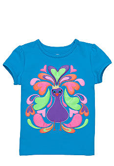 J Khaki Peacock Tee Girls 4-6X