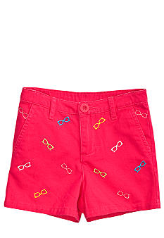 J Khaki Sunglass Embroidered Short Girls 4-6X