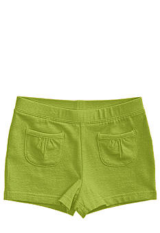 J Khaki Ruffle Pocket Short Girls 4-6X