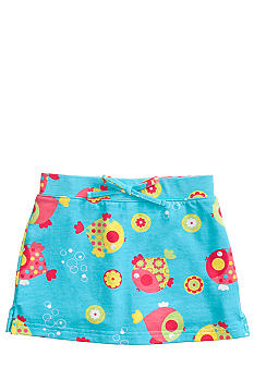 J Khaki Fish Printed Scooter Girls 4-6x