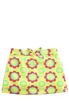 J Khaki Knit Flower Printed Scooter Girls 4-6x