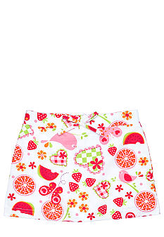 J Khaki Fruit Print Scooter Girls 4-6X