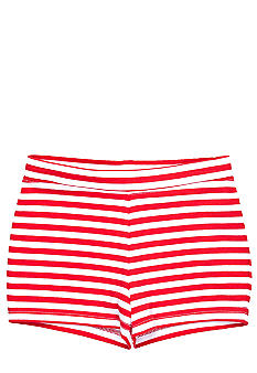 J Khaki Knit Stripe Short Girls 4-6X