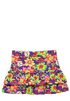 J Khaki Tiered Skirt Girls 4-6X