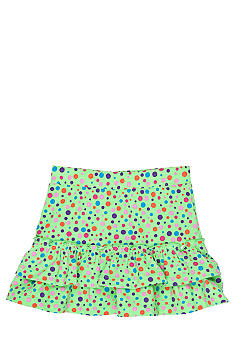 J Khaki Dot Printed Skirt Girls 4-6x