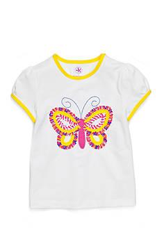 J Khaki™ Short Sleeve Ruffle Butterfly Tee Girls 4-6x