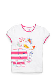 J Khaki™ Striped Elephant Tee Girls 4-6x