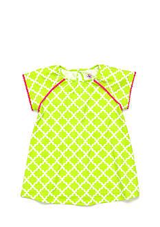 J Khaki™ Pom Pom Trellis Babydoll Tee Girls 4-6x