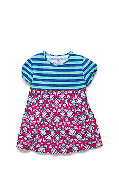 J Khaki™ Stripe to Paisley Babydoll Top Girls 4-6x