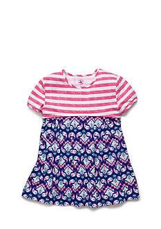 J Khaki™ Stripe to Paisley Babydoll Top Girls 4-6x