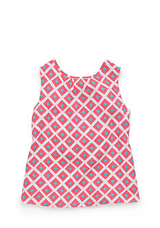 J Khaki™ Sleeveless Geo Challis Tank Top Girls 4-6x